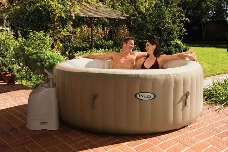 intex inflatable purespa hot tub with bubble jets pool. Black Bedroom Furniture Sets. Home Design Ideas