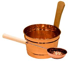 Harvia Copper Metal Sauna Bucket