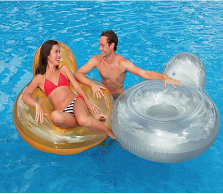 Pillow Back Inflatable Lounger