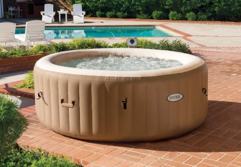 Intex Inflatable Pure Spa Bubble Hot Tub - 6 Person