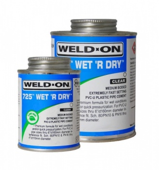 Wet R Dry ABS Cement - 250ml c/w Clear Brush