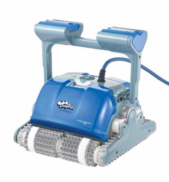 Dolphin m500 automatic swimming pool cleaner by maytronics pool market for Poole dolphin swimming pool prices