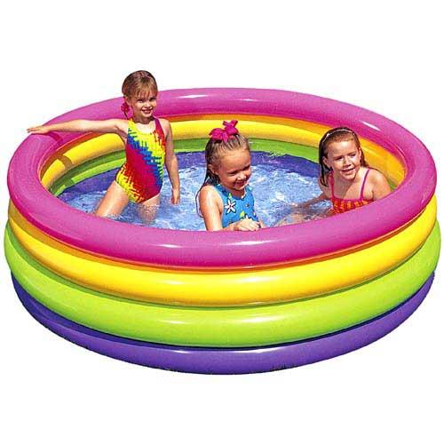 Intex Childrens Sunset Glow Paddling Pool Pool Market
