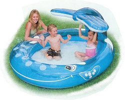 Intex Whale Spray Paddling Pool For Children Pool Market