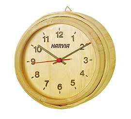 Harvia Sauna Clock Outside Cabin